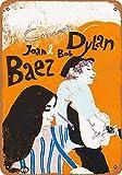 YASMINE HANCOCK 1965 Bob Dylan and Joan Baez Metal Plaque
