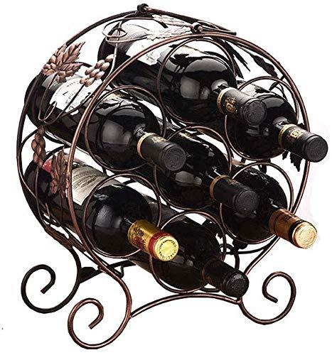 Botellero creativo para botellas de vino de hierro forjado, para decoración de...