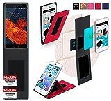 reboon Hülle für Meizu Pro 6 Plus Tasche Cover Case Bumper | Rot | Testsieger