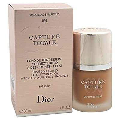 DIOR Capture Totale Triple Correcting Serum Foundation - wrinkles - dark spots - radiance FPS 25 SPF 020 - Light Beige 30 ml