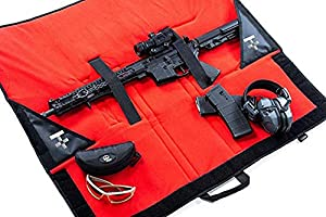 HACKETT EQUIPMENT Rifle Burrito - Slim Soft Rifle Case Backpack & Shooting Mat - Heavy Duty Tactical Rifle Case and Gun Bag That Doubles As A Shooting Range Rifle Mat (36 Inches)