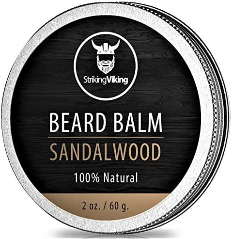 Sandalwood Beard Balm Styles Strengthens Softens Beards and Mustaches 100 Natural Beard Conditioner product image