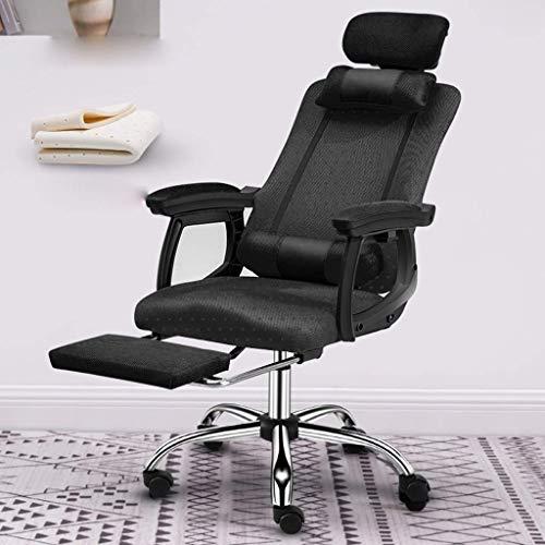 Office Life Stuhl Computerstuhl Home Office Stuhl Game Gaming Stuhl Rückenlehne Boss Sessellift Drehsitz Bequemer Stuhl (Farbe: Maschentuch mit Fußstütze-Grün)