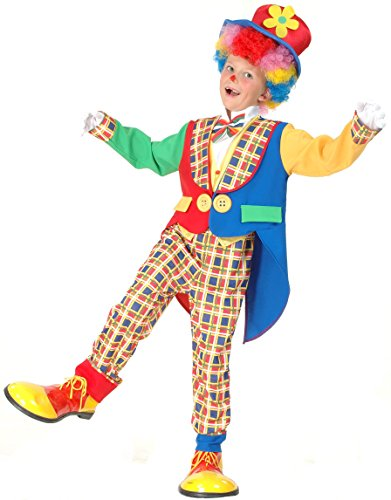 Vegaoo - Disfraz Payaso para niño o niña - M 7-9 años (120-130 cm)