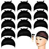 MILLYSHINE 12 Pièces Cap de Perruque,Bonnet perruque Bonnet Unisexe,Nylon bonnets de bas...