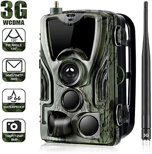 YTLJJ 3G Cámara de Caza Nocturna Envío Mensaje 16MP 1080P HD Vigilancia Trail Cámara de Juego Impermeable IP65 Invisible Visión Nocturna Distancia de Disparo hasta 20m Incluye Tarjeta SD