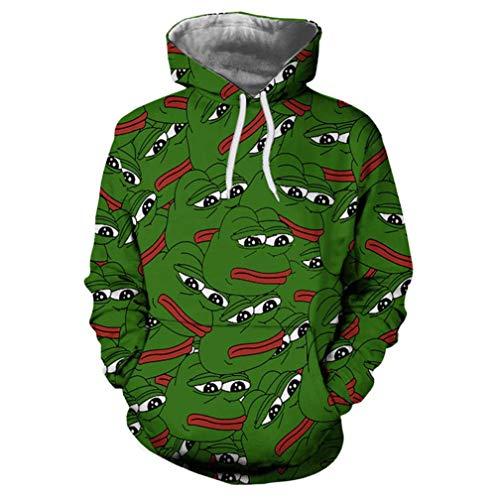 OGN.RG Pepe The Frog Print Frauen 3D Hoodies Sweatshirts Arajuku Hüfte Hoppullover S
