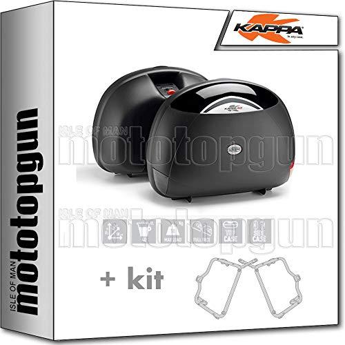 kappa maletas laterales k40n 40 lt + portamaletas lateral monokey compatible con triumph bonneville t120 2020 20