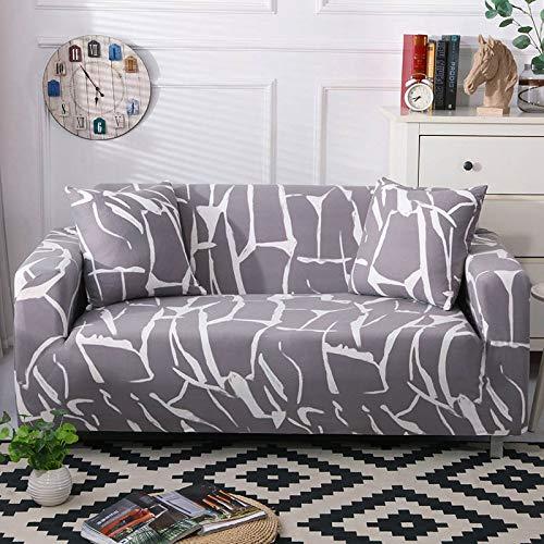 Funda de sofá geométrica elástica elástica Moderna Funda de sofá para Silla Fundas de sofá para Sala de Estar Protector de Muebles A11 1 Plaza