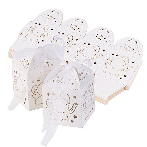 ultnice 50pezzi matrimonio scatole regalo matrimonio battesimo bomboniera scatole Baby Party Compleanno
