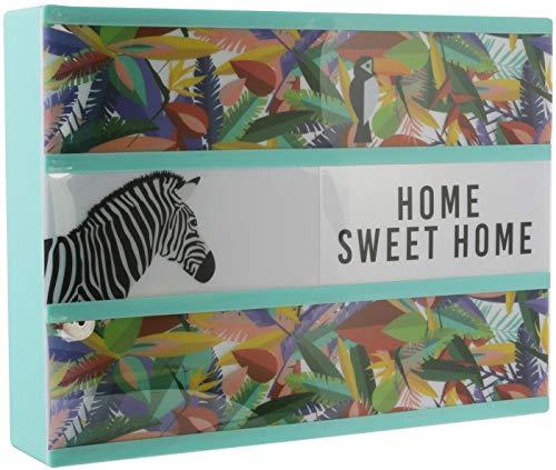 THE HOME DECO FACTORY Boite Lumineuse à Message Exotique