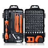 Gocheer 115 en 1 mini set tournevis precision kit tools petit boite tournevis torx informatique demontage pc portable pour macbook,iphone,réparation,lunettes,bricolage,montre,smartphone … (Orange)