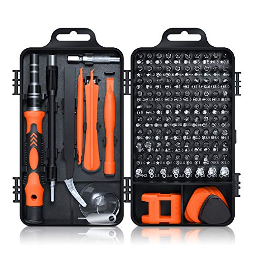 ROADTEC Mini Precision Screwdriver Set, 115 in 1 Magnetic Screwdriver Bit Set with Case, Impact Driver Bits Set for iPhone, Computer, PC, Watch, Glasses, Electronics