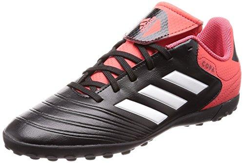 adidas Unisex Copa Tango 18.4 TF Fußballschuhe, Schwarz (Core Black/Footwear White/Real Coral), 37 1/3 EU