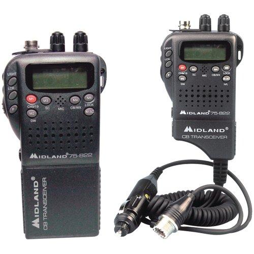 Midland Radio 75-822 Portable Mobile CB Radio, Large LCD Display, Keypad Lock, Plug and Play, Rugged Construction, Up To 40 Channels