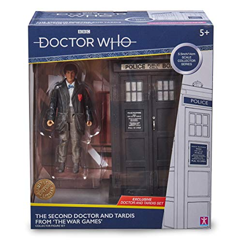 """Doctor Who 2nd Dr & Tardis Set - Classic Doctor Who Action Figure & Tardis Set - Doctor Who Merchandise - Character Options - 5.5"""""""