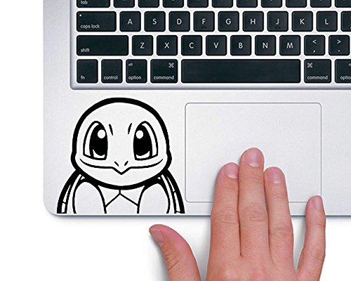 Squirtle Schiggy Pokemon TRACKPAD Sticker Aufkleber (Schwarz)