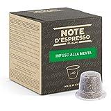 Note d'Espresso Italiano - Cápsulas De Menta Poleo, compatibles con cafeteras Nespresso, 40 unidades de 2g