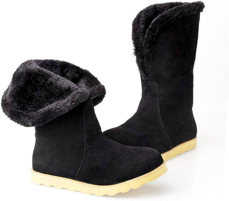 Zarbrina Womens Mid Calf Slippers Fashion Winter Warm Fur Lining Soft Fleece Non-Slip Soft Sole Plush Bootie