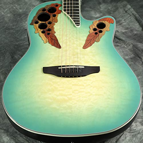 Ovation Celebrity Elite Plus CE44X-9B Mid-depth Acoustic-electric Guitar - Mintburst