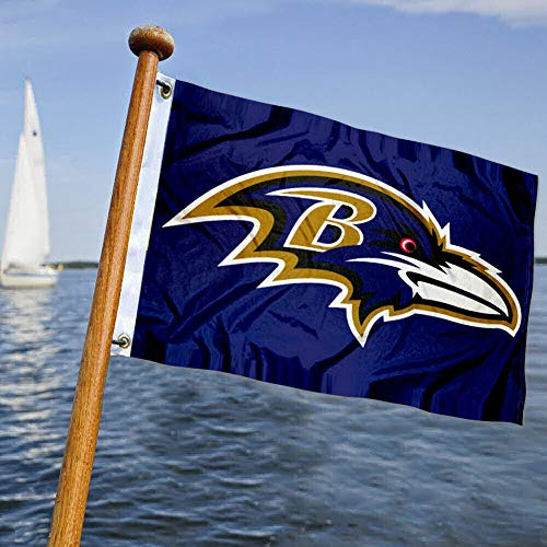 WinCraft Baltimore Ravens Boat and Golf Cart Flag