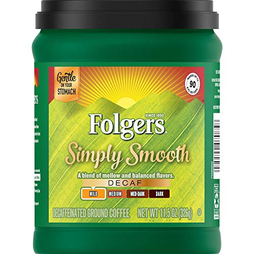 Folgers Simply Smooth Decaf Coffee, 11.5 Ounce