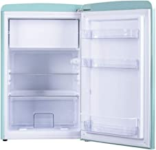 Amica Retro Kühlschrank Blau KS 15612 T 108 Liter mit Gefrierfach Standgerät Ice Blue