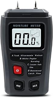 Moisture Meter Wood Soil Mold Test Kit for Home Water Leak Detector and Thermometer for Wood Building Materials Pin Type Digital LCD