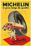PostersAndCo TM - Poster vintage di Michelin con pneumatici di camion Rznf, 40 x 60 cm