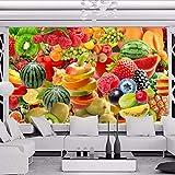 Zybnb S3D Wall Mural Wallpaper Para ParedesCocina 3D Restaurante Fruta Tienda Fondo Decoración Foto Papel De Pared