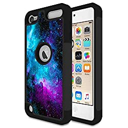 cheap IPod Touch 6 cover, iPod Touch 5 cover, Rossi Nebula Galaxy Space Design, Space, Shock Absorption …