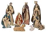 zeitzone Riesige Krippenfiguren Weihnachten Handbemalt 10 Stück