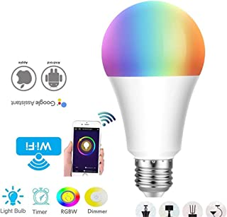 WiFi Smart Light Bulb, E27 Lamp Holder - Dimmable/with Alexa and Google Assistant, APP Remote/Voice Control, 12W Christmas Lights