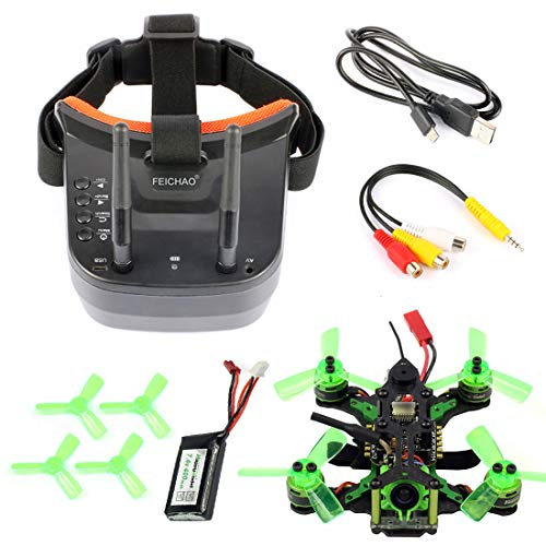 FEICHAO Mantis85 85mm FPV Racing Drone Quadcopter BNF with 600TVL Camera Mini Video Goggles for Flysky