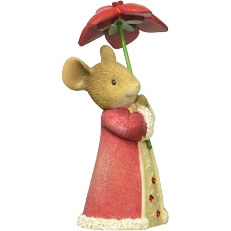 Christmas Cardinal 6003902 Tails with Heart mouse Enesco mice figurine holiday Z