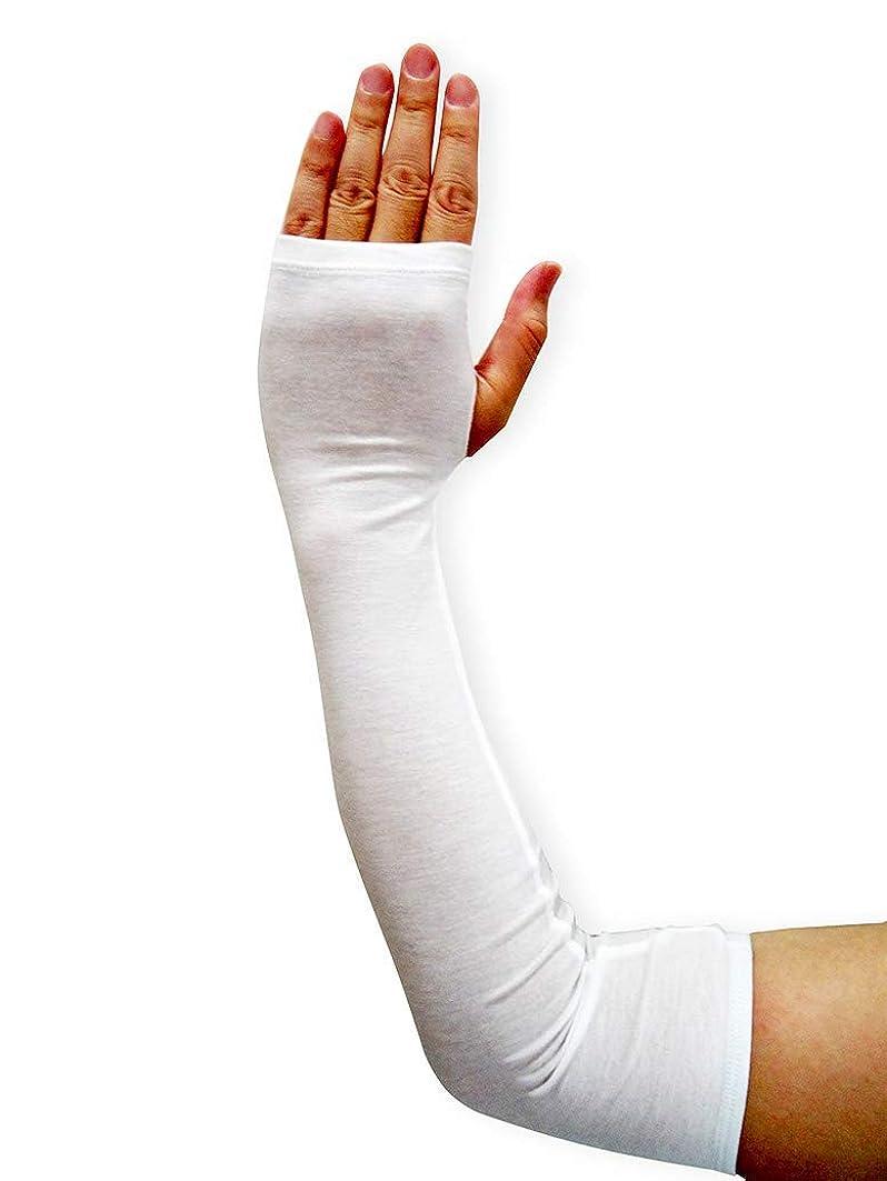 うれしいアカデミック奪うEdenswear 亜鉛繊維大人袖カバー アトピー敏感肌湿疹肌向け (Large)