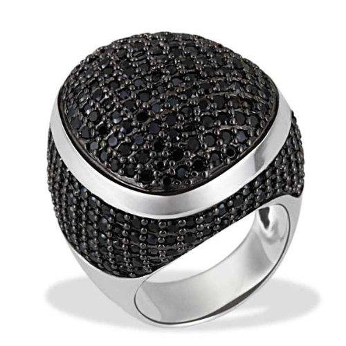 Goldmaid Damen-Ring Glamour Rock 925 Sterlingsilber 242 schwarze Zirkonia Gr. 58 Pa R5744S58 Schmuck