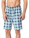 Timone Pantalones Cortos de Pijama Vestidos de Casa Hombre TI30-116(Cuadros4 (9632301), L)