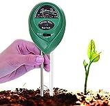 GUJIJI Medidor De Suelos 3 en 1,Kit De Prueba Humedad/ph/luz Hierbas Y Herramientas De Jardín, Cuidado De Plantas En Interiores/Exteriores (no Requiere Batería)