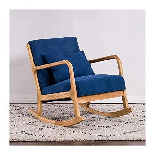 WSDSX Möbel Massivholz Schaukelstuhl Adult Nap Balkon Stuhl Lazy Chair Recliner Home Freizeitstuhl Büro Sessel Lagergewicht 200Kg