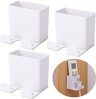 BESLIME 3Pcs Boîte de Rangement Télécommandée Support, Tenture Murale Télécommande Support, Mural pour Téléphone Portable ...