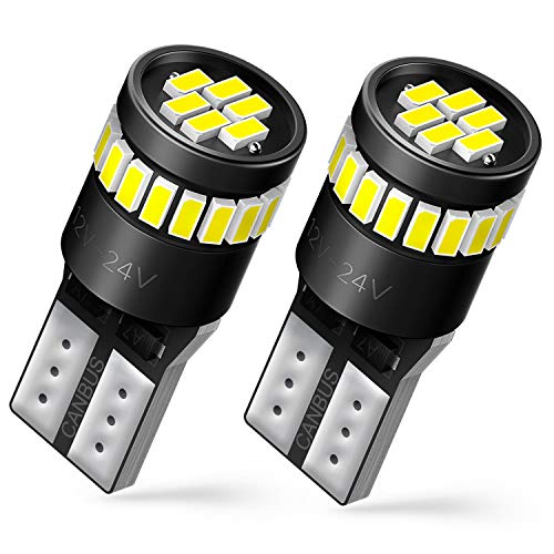 AUXITO 194 LED Bulbs 168 175 2825 W5W T10 24-SMD 3014 Chipsets 6000K White for Car Dome Map Door Courtesy License Plate Parking Lights...