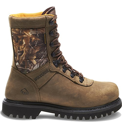 """Wolverine Men's Big Horn Insulated Waterproof 8"""" Hunting Boot (7 EW in Natural/Realtree Xtra)"""