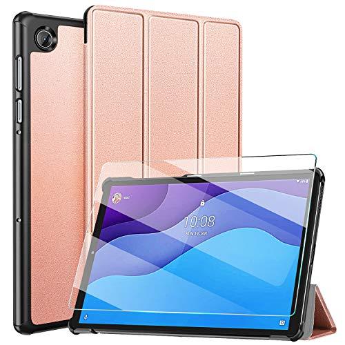 ZtotopCase Funda y Protector de Pantalla para Lenovo Tab M10 HD (2.a generación) TB-X306X/TB-X306F, Funda Ultrafina y Práctica para Lenovo Tab M10 HD 2nd Gen 10.1 Pulgada 2020, Rosa