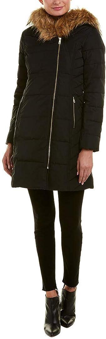 Cole Haan Women's Taffeta Quilted Down Coat with Hood