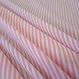 Stoff Meterware Bauernstreifen rosa weiß Streifen 4 mm