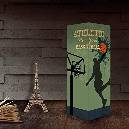 Layyqx basketbal sport nachtlampje donker decoratieve lamp touchscreen sensor papier schaduw vermogen warmwit licht