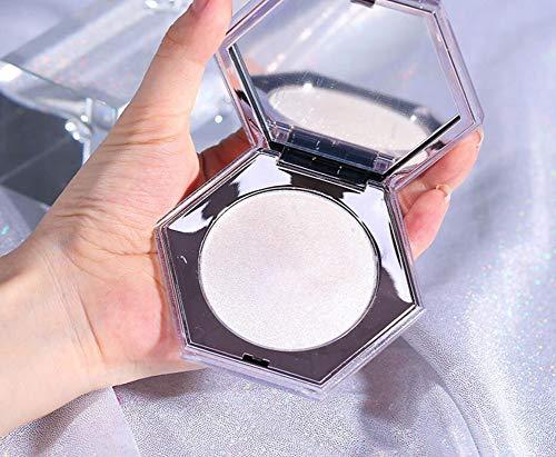 Cvbndfe Gepresstes Puder, Professional Makeup High Definition Finishing Powder, Perfektionierte Haut, Mattes Finish, Ölabsorbierend, Vegane Formel, Farbton: Translucent