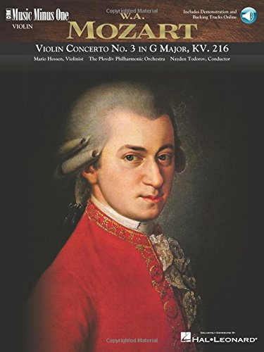 Mozart - Violin Concerto No. 3 in G Major, Kv216: Music Minus One Violin