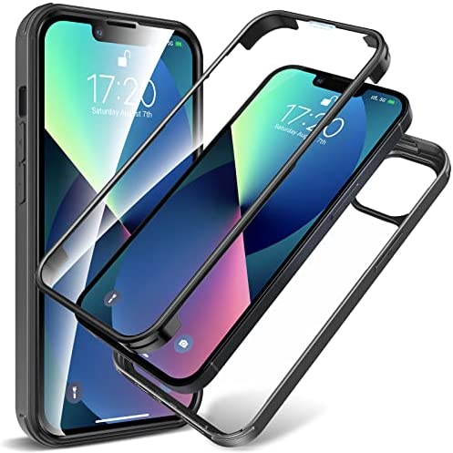 Photo of KKM Designed for iPhone 13 Case 6.1-inch with Tempered Glass Camera Lens Protector,[Anti-Yellowing] [Military Grade Protection],360° Full Coverage Screen Protective Phone Cover-Black
